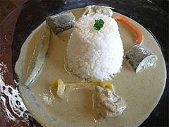 料理:グリーンカレーセット1000円@ラナンキュラス田主丸店・久留米