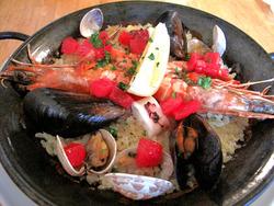 7魚介類のパエリア1,260円@カフェ・プールヴー