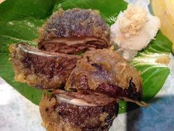 3椎茸の肉詰め揚げ@花のれん