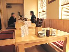 店内:掘り炬燵テーブル席@寿し赤坂・福岡