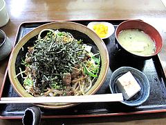 5ランチ:牛カルビ丼定食500円@一やのごはん・春吉