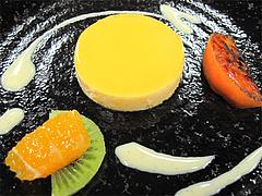料理:みかんのムース@フレンチ・シェ サンアン・早良区石釜