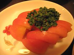 料理:塩トマト@天下の焼鳥・信秀本店