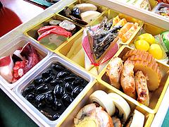 料理:斜め空撮@2011セントラルホテル福岡お節(おせち)・一の重