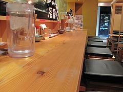 4店内:カウンター席@AKAMARU食堂・電気ビル・渡辺通
