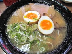 10煮たまごラーメン580円@西新ラーメン未羅来留亭