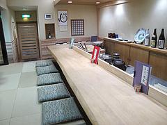 5店内:カウンター席@中洲しか野・う奈ぎ(うなぎ)道場・松戸