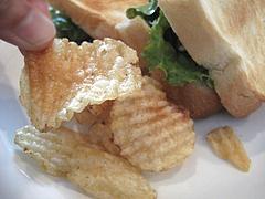 15ランチ:サンドイッチセットのポテトチップ@サンディッシュ・カフェ・美野島