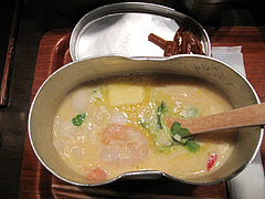 7チーズ+バター+えび雑炊@はんごう雑炊の店・山・中洲