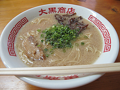 【ランチ】ラーメン500円@ラーメン大黒商店・親富孝通り・天神