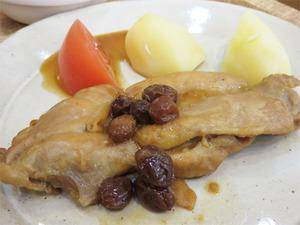 17鶏肉とレーズンの赤ワイン煮@タニタ食堂