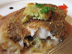 料理:的鯛(マトダイ)のパン粉焼きアップ@フレンチ創作料理レストラン Vie Vie(ヴィ ヴィ)・鳥栖