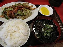 料理:ホルモン定食660円@まめたぬき・大楠