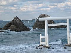 夫婦岩アップ@カフェレストラン二見ヶ浦 ・糸島