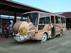 23外観:ねこバス@JAにじ・耳納の里・バイキングレストラン夢キッチン