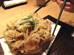 ランチ:野菜のかき揚げ500円@うどん・わらの蔵・今泉・天神