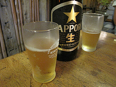 8料理:サッポロビール@京寿司ランチ・祇園いづ重