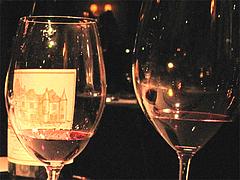 料理:赤ワイングラス小@レストラン花の木・福岡