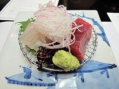 7宴会:造里 鮮魚三種盛り あしらい他@観山荘別館・小倉・料亭
