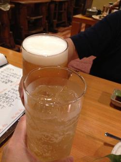 3ビールとハイボール@ふじけん大名店
