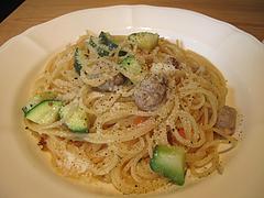 10ランチ:ソーセージとズッキーニのオイルソーススパゲティ@イタリアン・カンティーナ・ガシーヨ