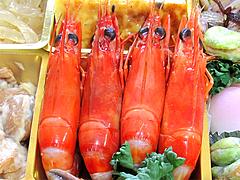 料理:有頭海老塩水煮@2011セントラルホテル福岡お節(おせち)・三の重