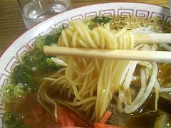 ラーメンの麺@長崎亭博多駅南店