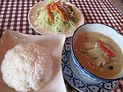料理:グリーンカレー定食800円@カオサン・タイ料理・薬院