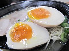 12ランチ:ラーメン煮玉子100円@長浜ナンバーワン・箱崎店・楽市楽座