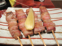 料理9:豚ばら串@和膳・松の湯・春日原