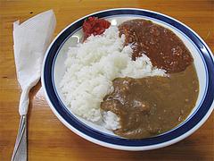料理:ミカライス(ミートカレーライス)580円@タケシタベーカリー喫茶部