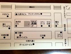 地図@奇術の店・西岡・中洲マジックバー