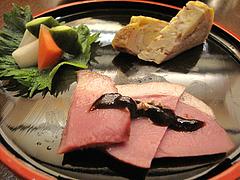 7夜の食事:前菜@手打ち蕎麦・やぶ金・大名