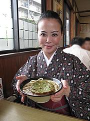 ランチ:緑の天ぷらうどん430円@牧のうどん・空港店