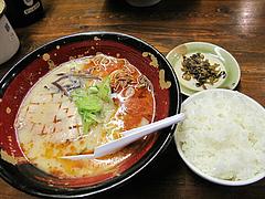 11ランチ:潤黒(じゅんこく)ラーメン650円@ららららーめん・福重店