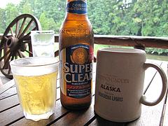 料理:生ビールとノンアルコールビール@森のログレストラン・アラスカ