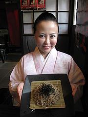 ランチ:そばの量@博多つけ蕎麦・串揚げ・博多大乗路・櫛田神社