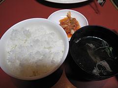 15ランチ:ご飯・キムチ・スープ@焼肉万歳・薬院店