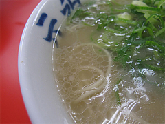 料理:ラーメンスープ@元祖長浜家ラーメン・中央区港