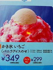 キティちゃん・かき氷いちご@ファミリーレストラン・ジョイフル