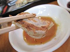 ランチ:烏骨鶏肉入り餃子アップ@千熊ラーメン・春日