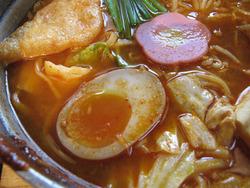 7チゲ味噌めんちゃんこスープ@めんちゃんこ百道本店