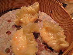 料理(鮮蝦魚翅餃):フカヒレ入り蒸し餃子@CHINA(チャイナ)・グランドハイアット福岡・キャナルシティ博多