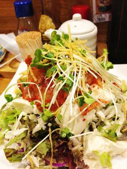 13豆腐とキムチ@博多てんき屋