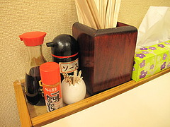 6店内:卓上@定食の味作食堂