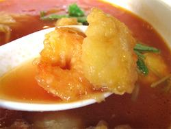 12シーフードチリとまとラーメン具@ウエスト中華麺飯