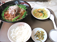 料理:台湾ラーメンセット@点心楼・台北・薬院店