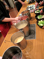 もつ鍋のスープ@天神DININGじゃんくう