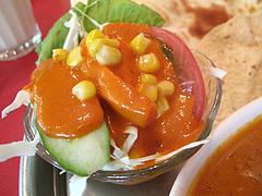 ランチ:サラダ@本場インド料理の店D.カジャナ・大手門店