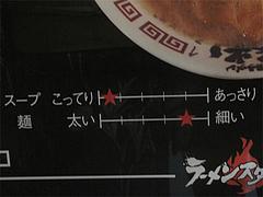 店内:スープの濃さと麺の太さ@絆(博多新風)・ラーメンスタジアム・キャナルシティ博多
